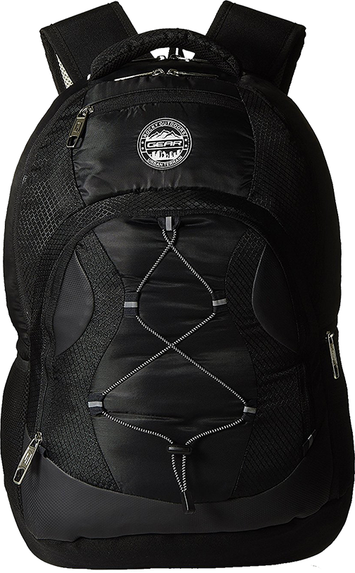 Buy Gear 32 ltrs Black and Silver Laptop Backpack