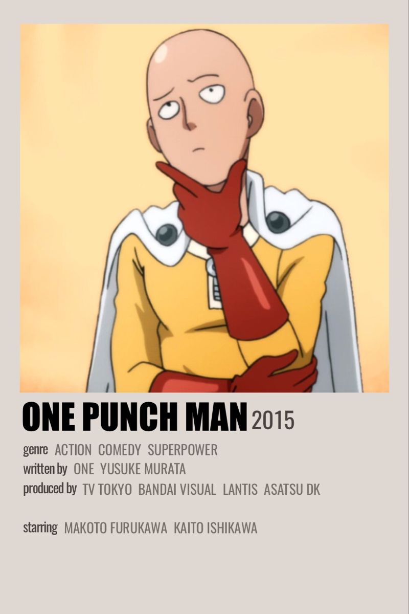 One Punch Man En 2021 Carte Animee Anime Demon Anime