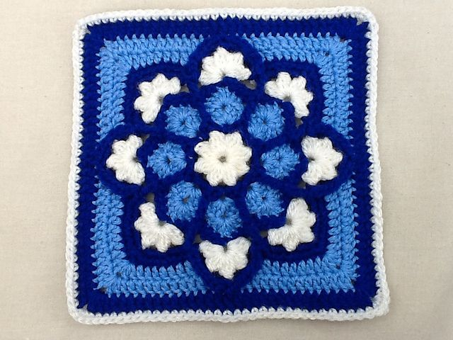 Stained Glass Afghan Square Pattern