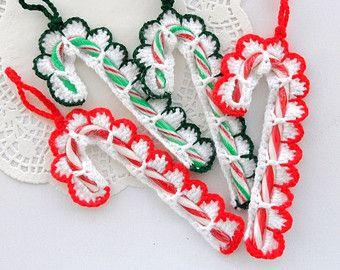 Candy Cane Christmas Potholder  Free Crochet Pattern  Crochet
