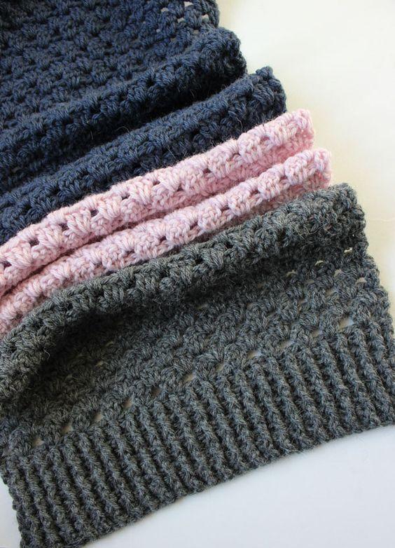 Crochet Granny Stripe Scarf Free Pattern Pinterest Striped