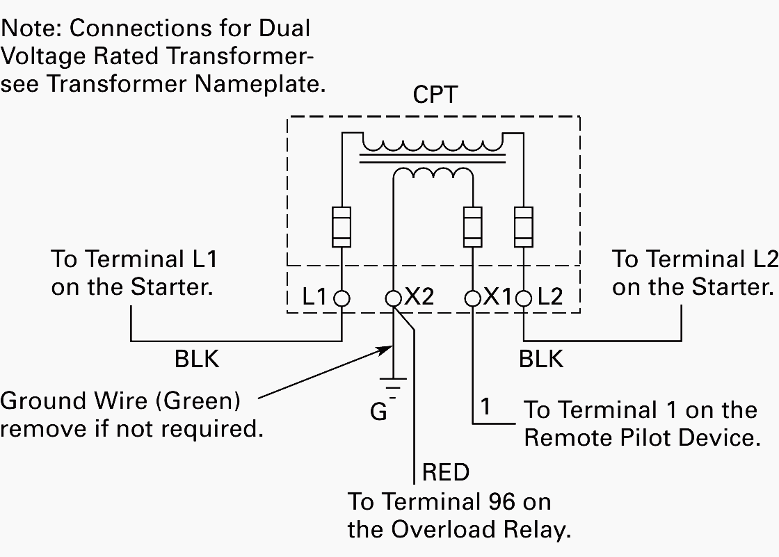 Wiring Of Control Power Transformer For Motor Control