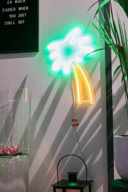 Idee Deco Guirlande Exterieur décoration extérieure sublime : le néon palmier enchanter la