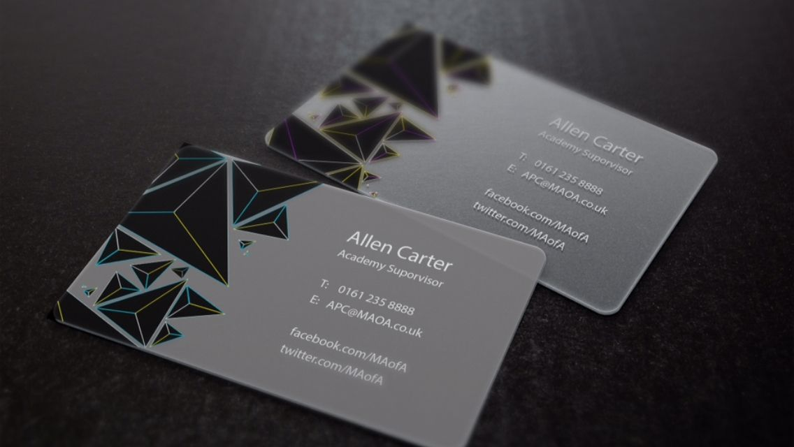 Possible Business card for the exhibition | Manchester Academy Of ...