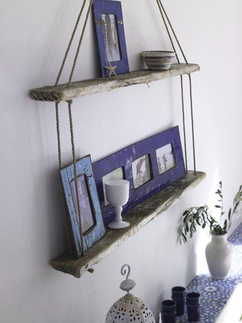Using Lumber For Shelves In Living Room