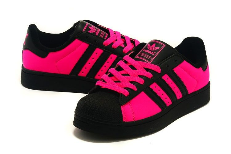 adidas superstar rose et noir