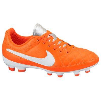 reputable site 43641 a1c48 Nike Tiempo Genio Firm Ground Football Boots Kids Orange