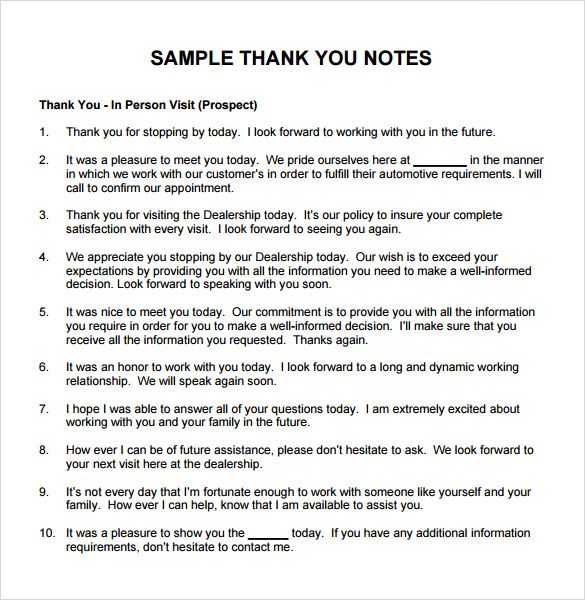 sample thank you note boss documents pdf word notes for messages - thank you letter for promotion