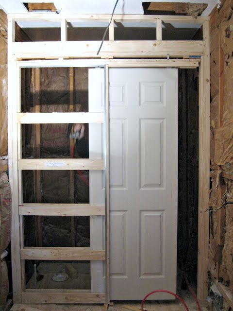 How to install pocket door house pinterest pocket for Pocket door ideas