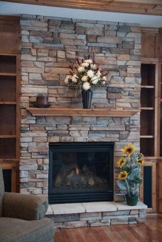 Fireplace idea close but not totally sold on this - Fireplace hearth stone ideas ...