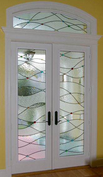 Contemporary Stained Glass Door Stained Glass Panels Sliding Glass Door