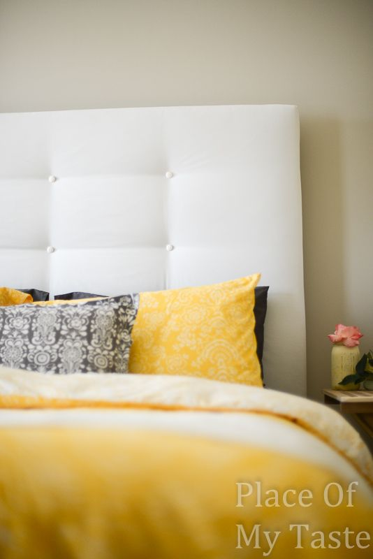 Holy And Easy Diy Headboard Never Thought To Just Staple Gun The Tufts Then Simply Glue On Ons So Much Easier