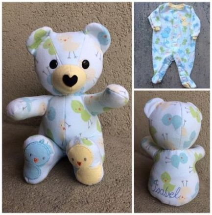 PILLOW Baby Girl Teddy Bear Newborn