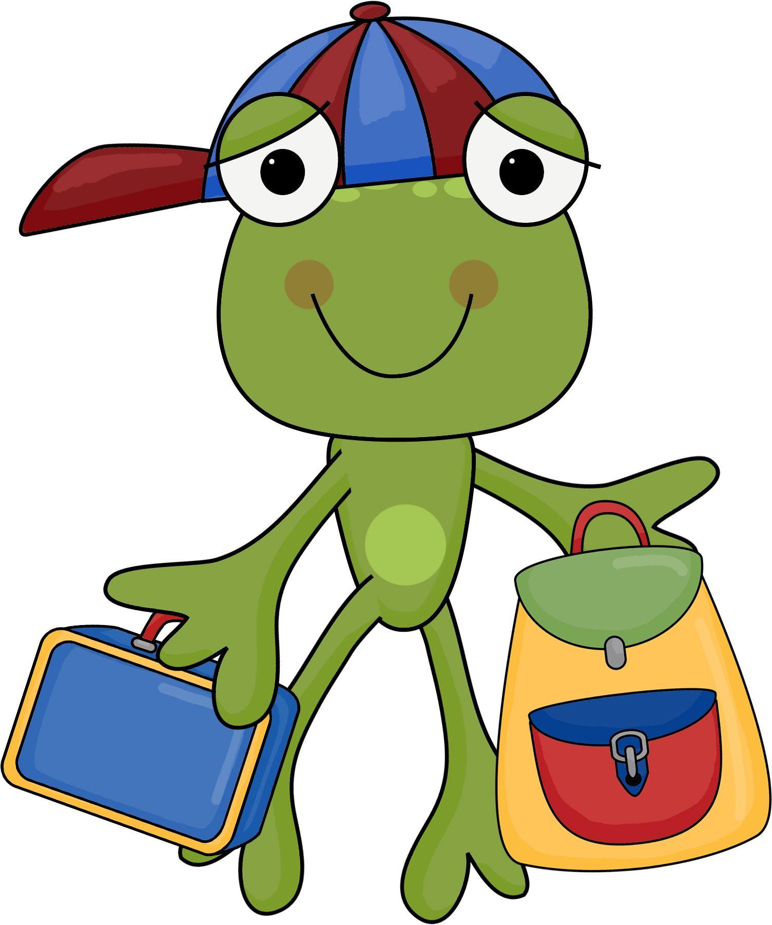 frogs school clipart school days free frog [ 1504 x 1801 Pixel ]