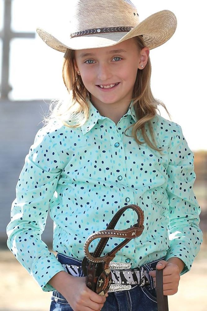 CRUEL GIRL COWGIRL WESTERN SHIRT Rhinestone Snaps L S LITTLE KIDS NWT Medium 8