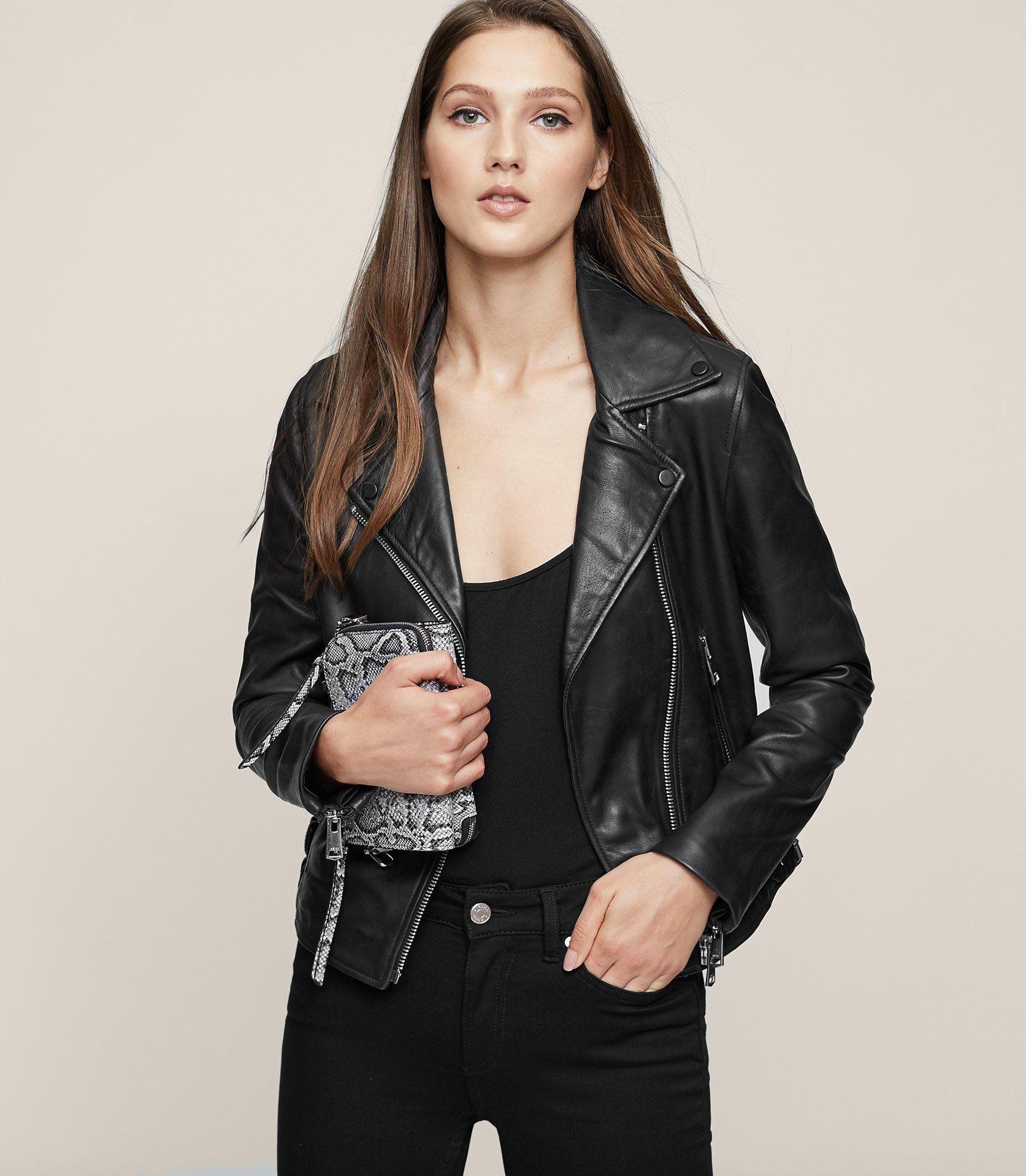 Reiss Ally Leather Biker Jacket Trendy Fashion Outfits Trendy Outfits Inspiration Leather Jacket Girl [ 1918 x 1673 Pixel ]
