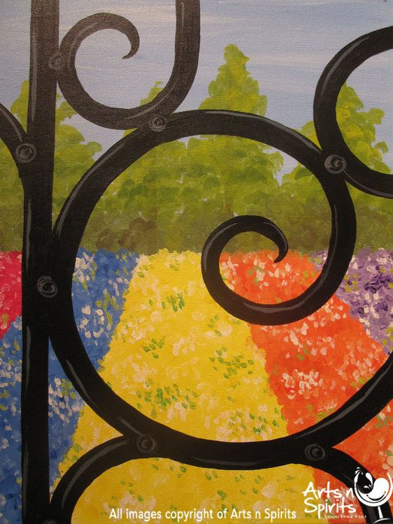 Come spend your Sunday Funday with us tomorrow at 2pm.  We are debuting our new Secret Garden painting, which is beautiful.      We are also doing a Facebook fan appreciation day. Just like us on Facebook, and tomorrow's (3/4/2012) class will be just $25.      Come laugh, drink, and paint with us, we promise it will be a great time. And for just $25, you can't go wrong!     www.artsnspirits.com