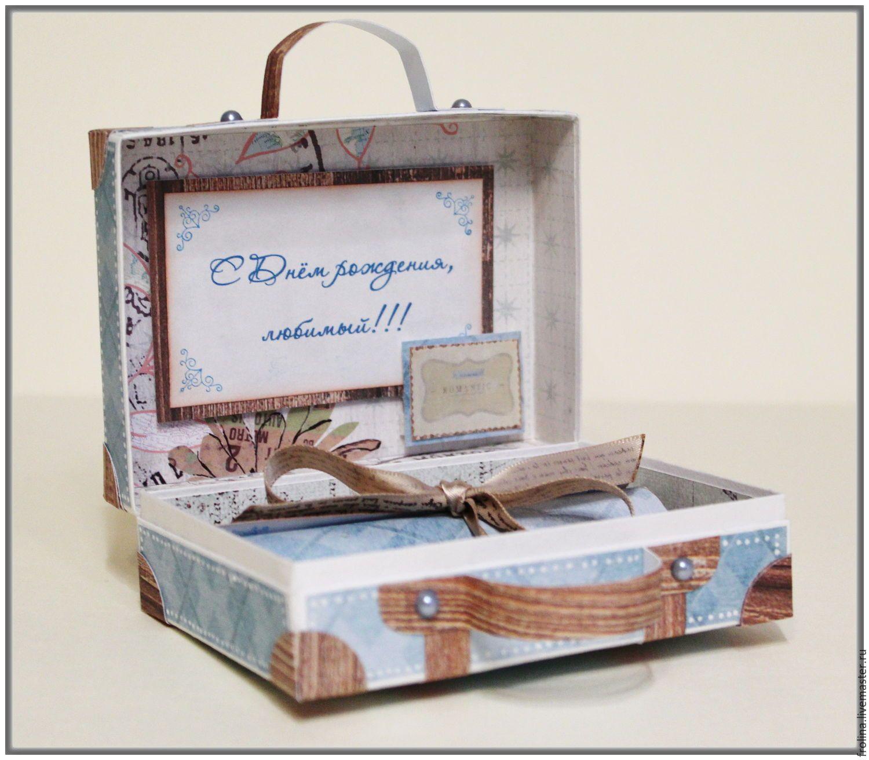 Чемоданчик открытка скрапбукинг мастер класс