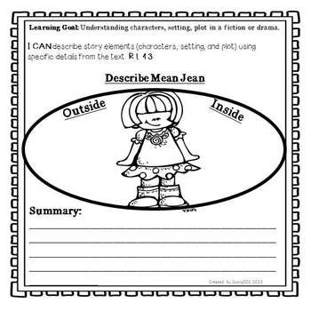 the recess queen printables THE RECESS QUEEN Character Traits - character analysis