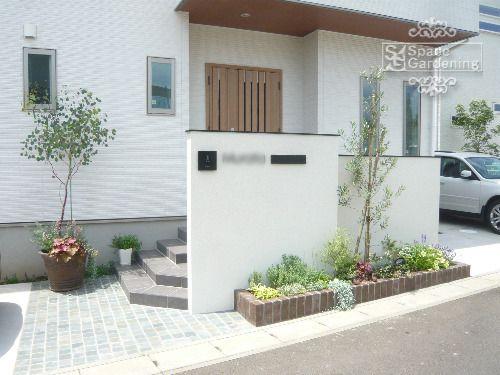 庭 外構施工例 詳細 エントランスのデザイン 住宅のエクステリア