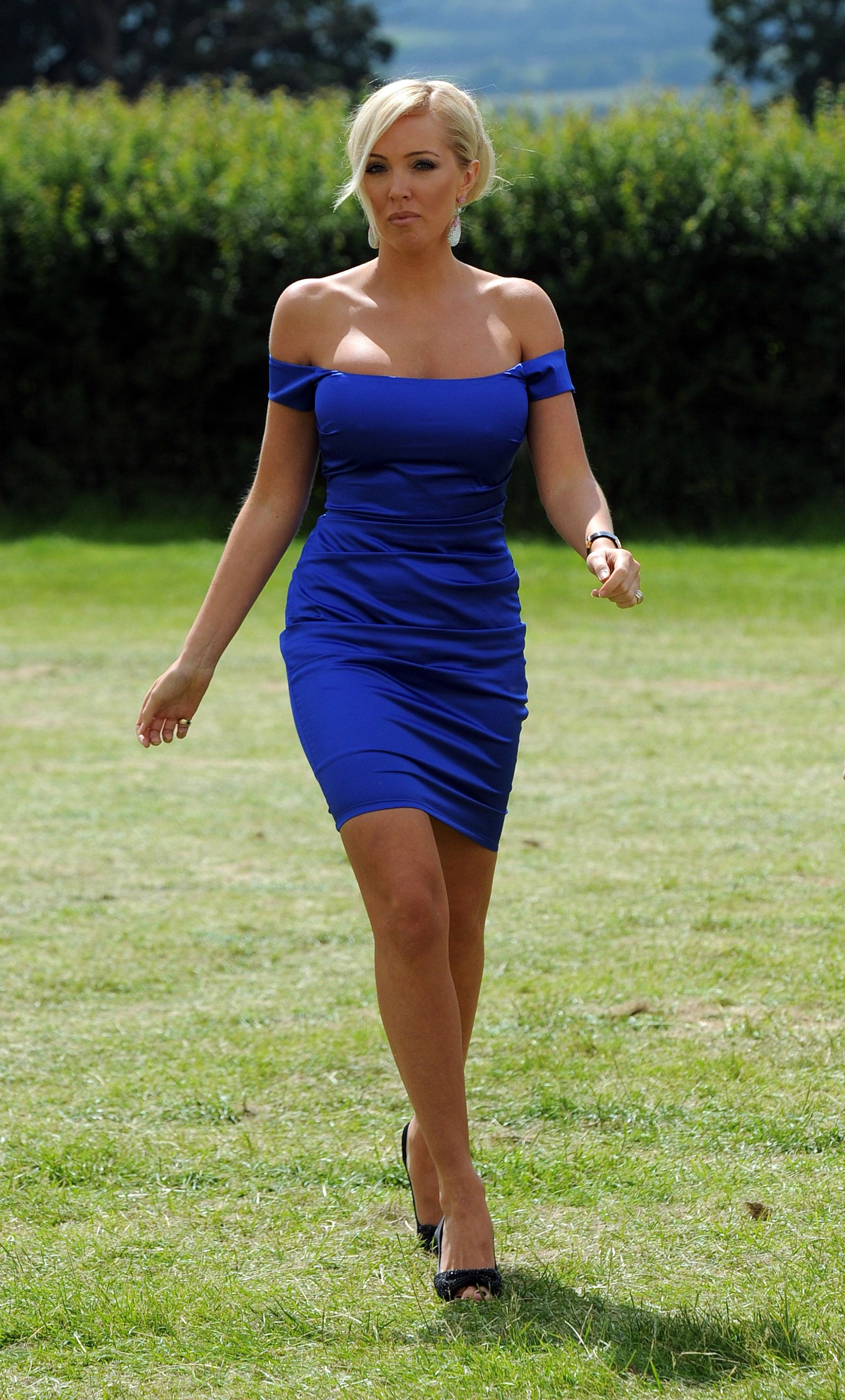 Mature In Tight Dress