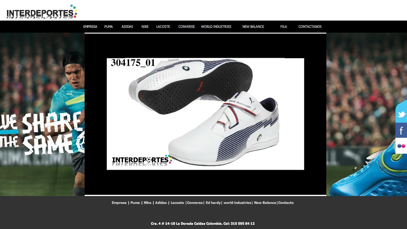 http://www.interdeportescenter.com/diseño Web Interdeportes