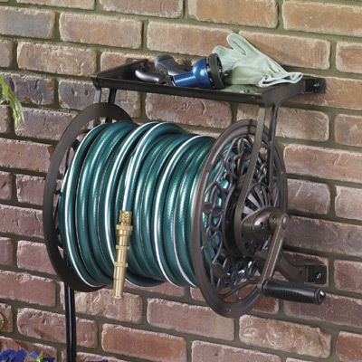 Cast Aluminum Hose Reel Wonu0027t Warp, Fade, Crack Or Rust Constructed Of  Heavy Duty Cast Aluminum, This Wall Mounted Hose Reel Is The Last One  Youu0027ll Ever ...