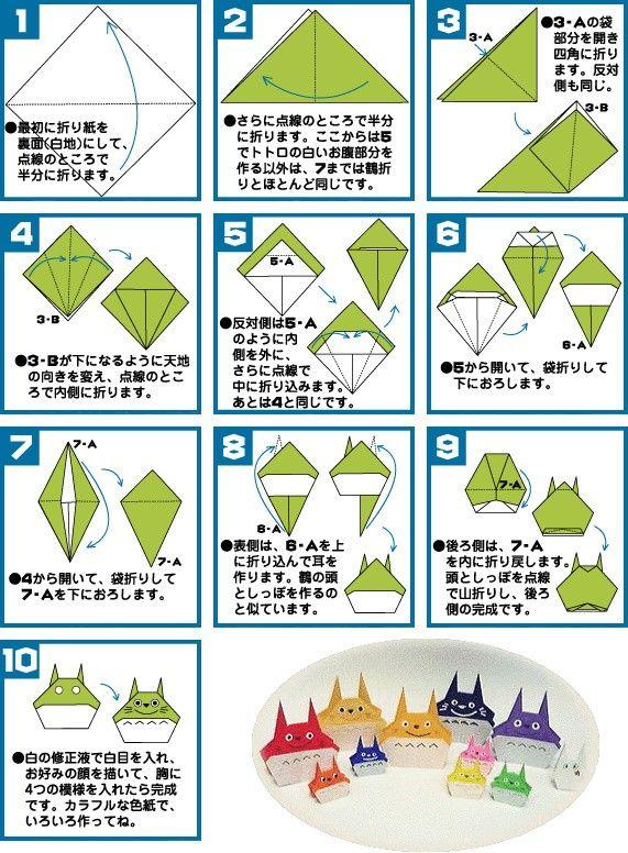 トトロ ジブリグッズ通信販売 めっせ トトロ 折り紙 折り紙 可愛い 折り紙 作り方