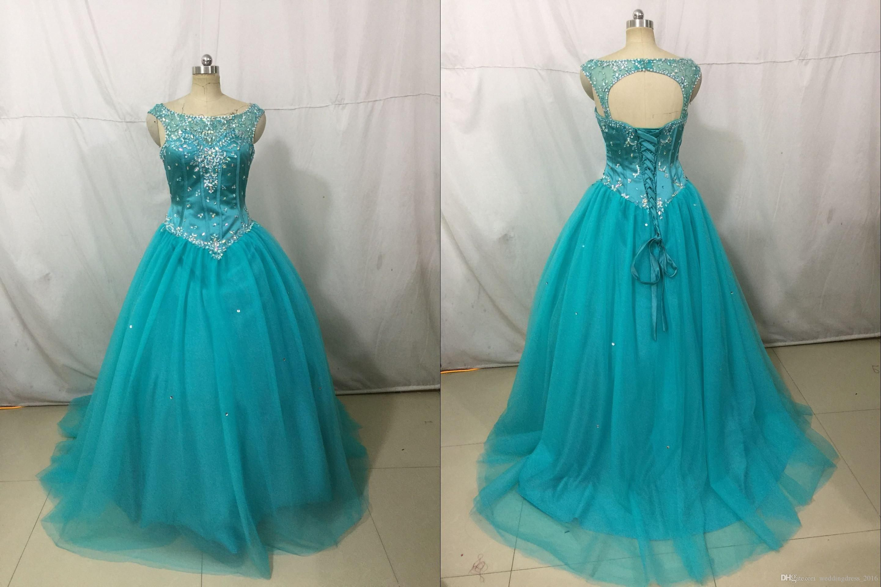 Cheap Light Sky Blue Sweet 15 16 Party Debutantes Gowns Backless ...