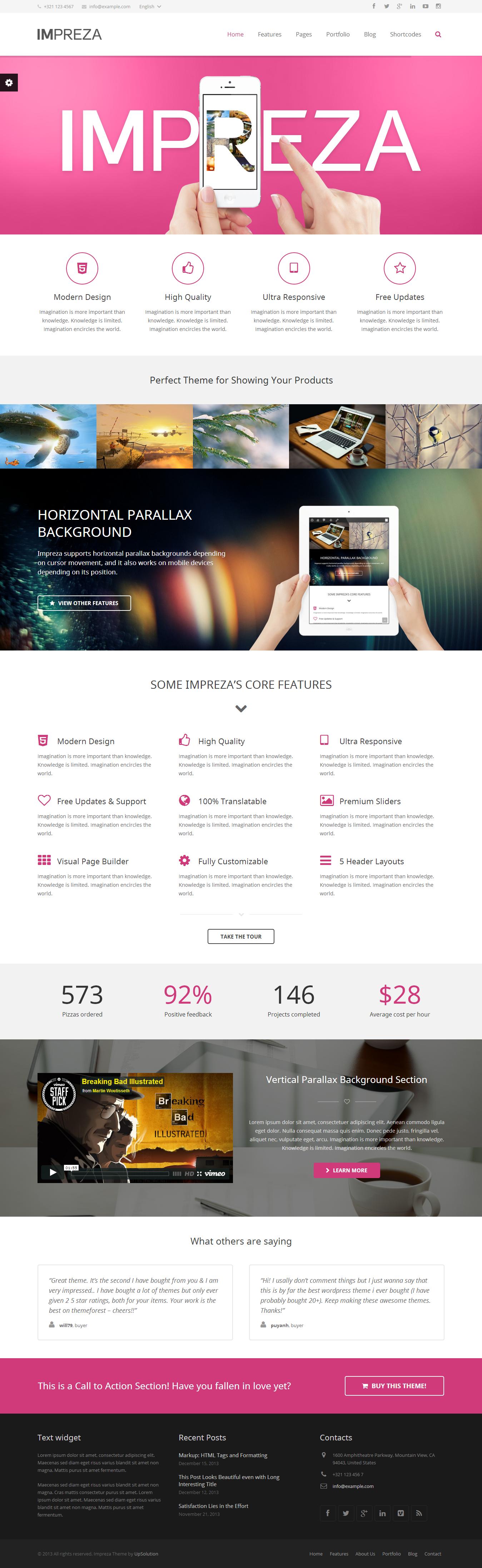 Impreza - Retina Responsive WordPress Theme themeforest.net/... #web #design #wo...