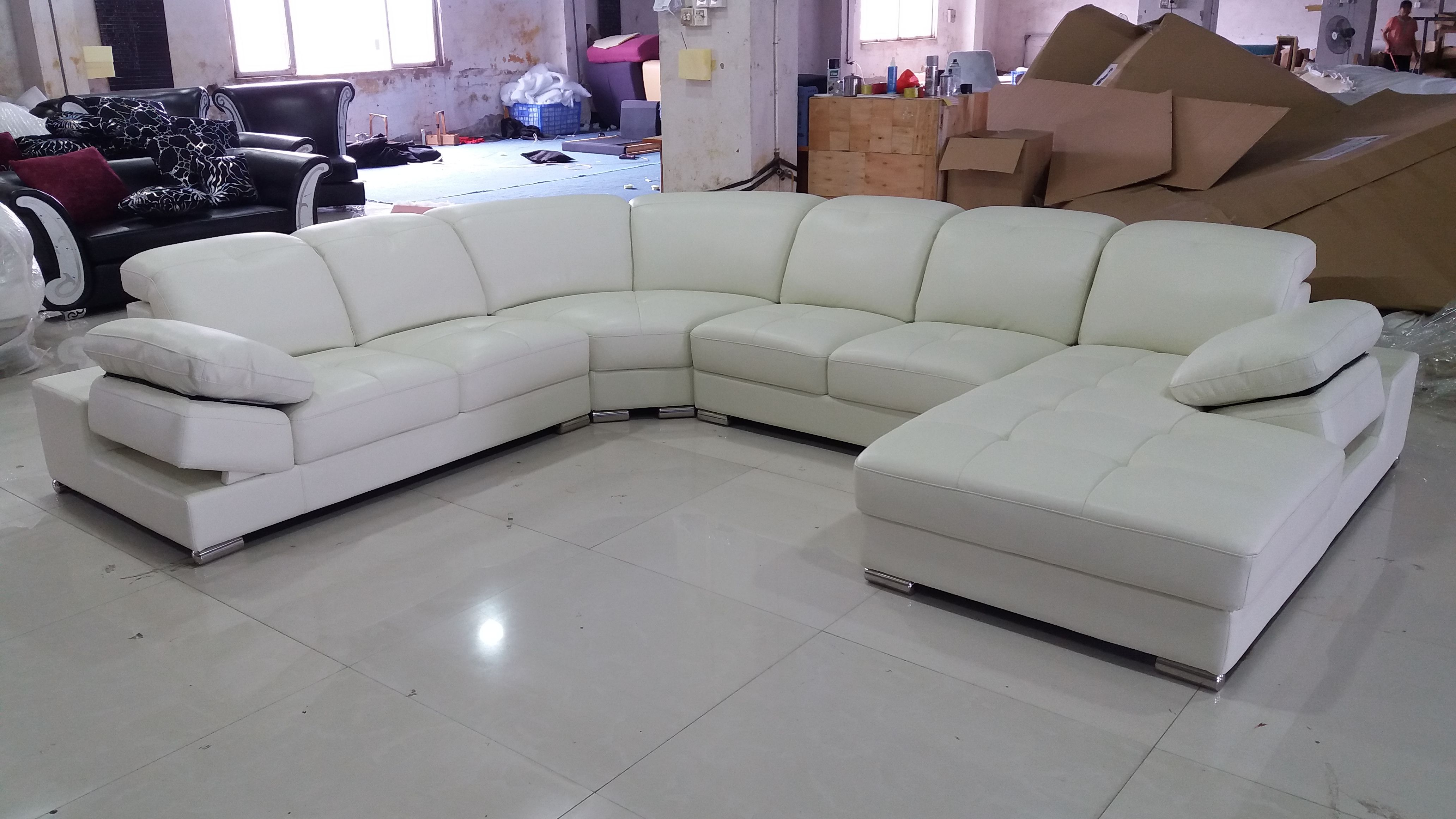 White Leather Sectional For Sale Sofa Pinterest