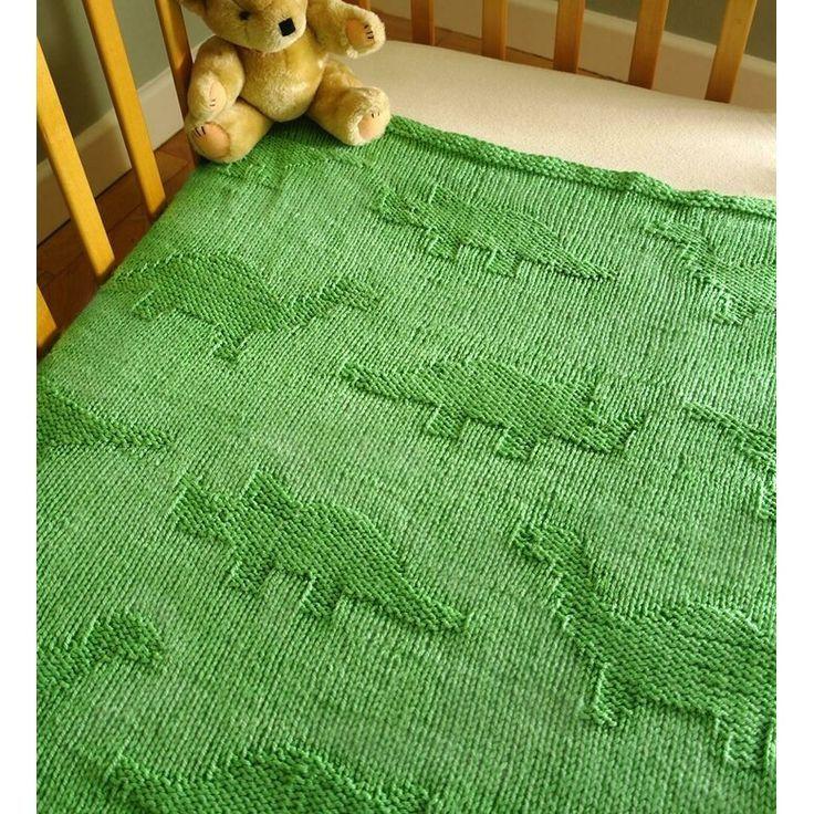 easy dinosaur baby blanket knitting patternsproglets
