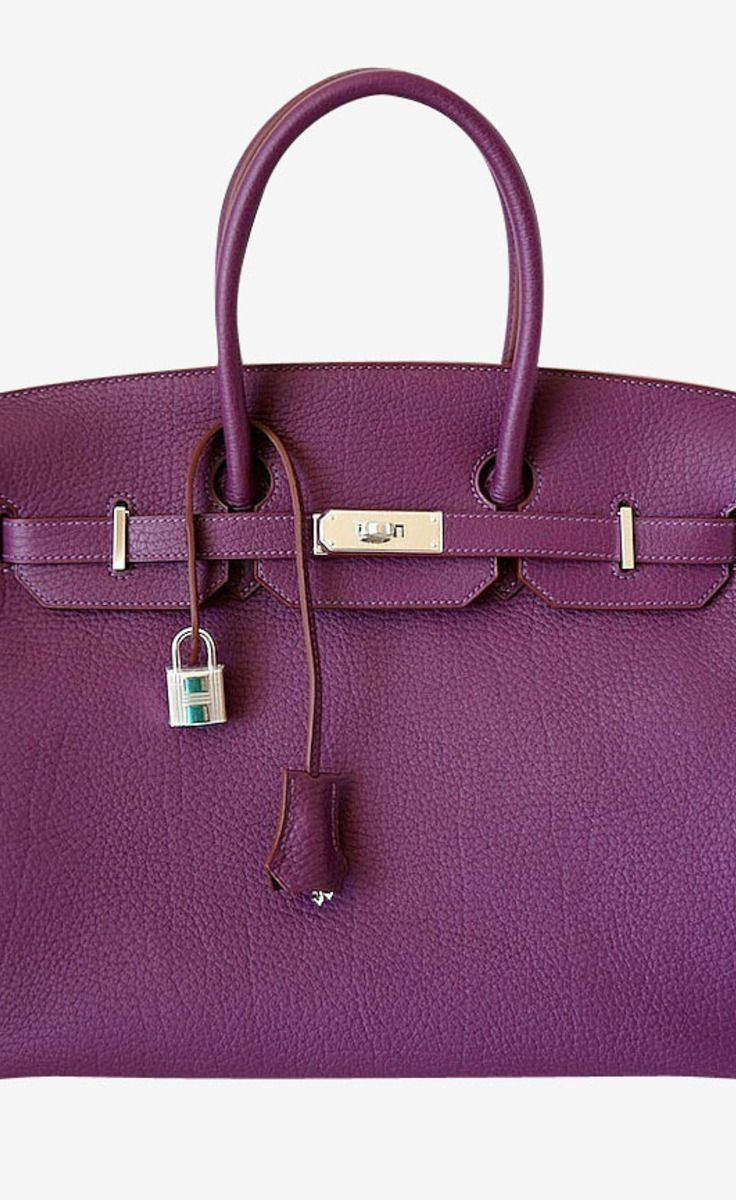 ad76dc06c8 HERMES BIRKIN 35 bag CASSIS Fjord leather palladium hardware in 2019 ...