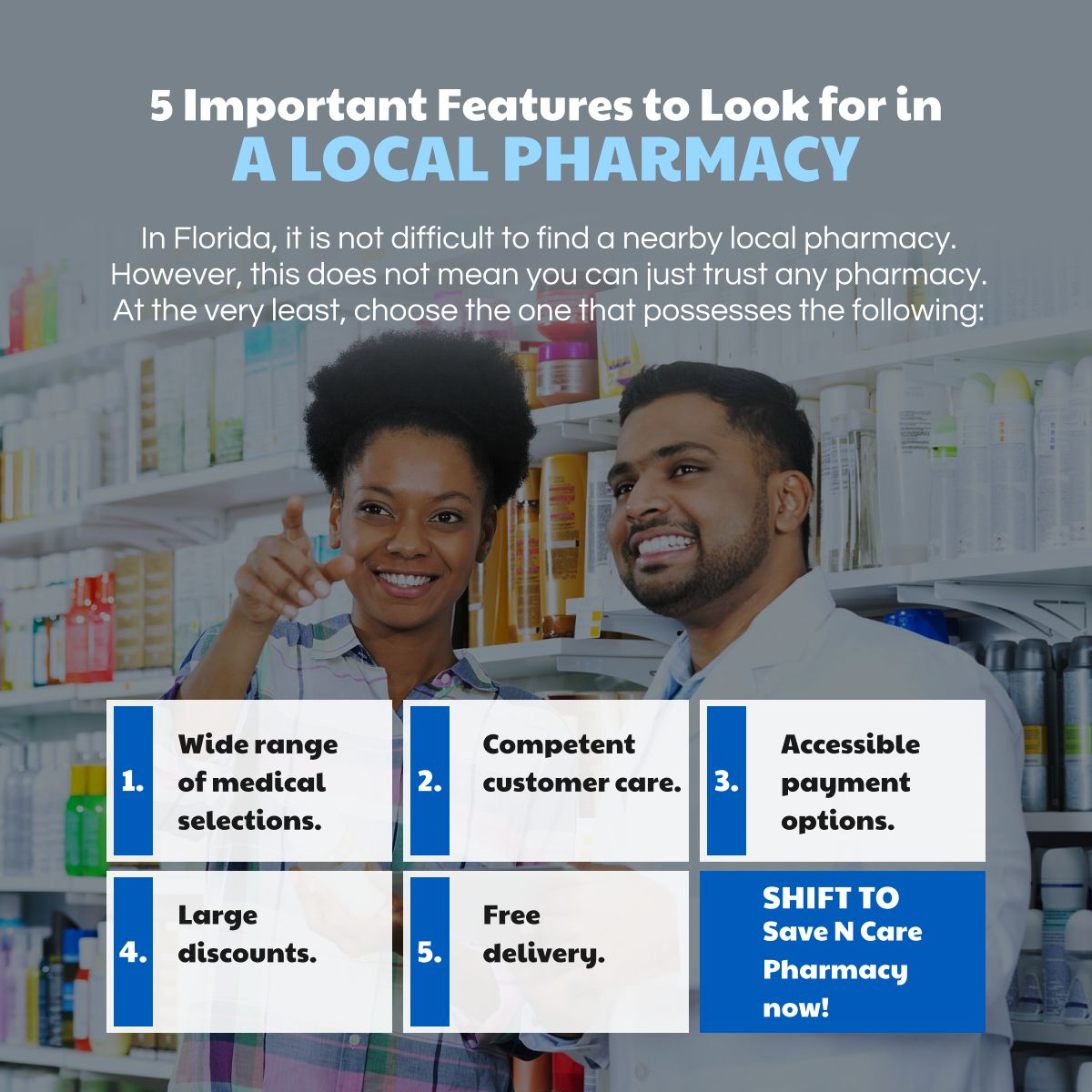 5 Important Features to Look for in a Local Pharmacy