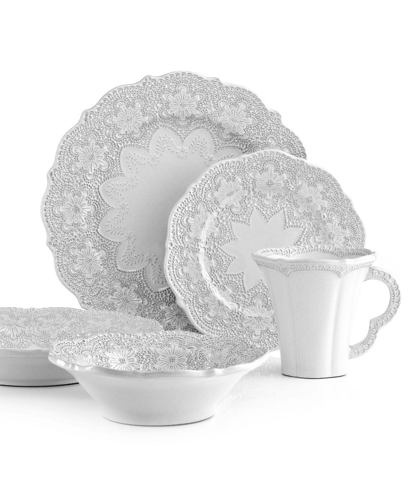 Arte Italica Dinnerware Merletto Antique  sc 1 st  Pinterest & Arte Italica Dinnerware Merletto Antique | Home - Place Settings ...
