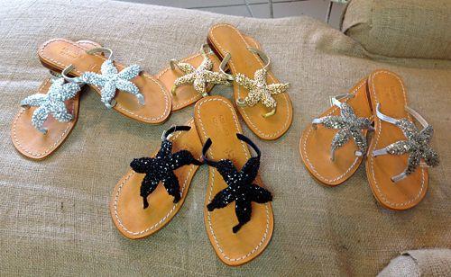 Beaded Starfish Sandal-Summer Sandal, Beach Sandals -5558