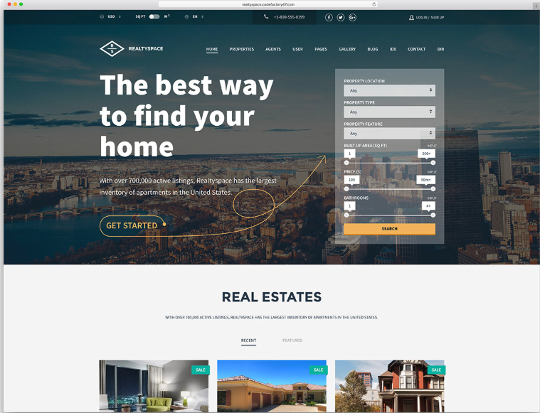 7 Best Wordpress Real Estate Themes Real Estate Website Templates Real Estate Real Estate Website