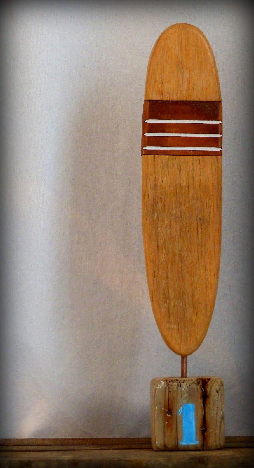 N°1 Surf trophy by Mutoz inc. Création surf art en bois flotté et métal