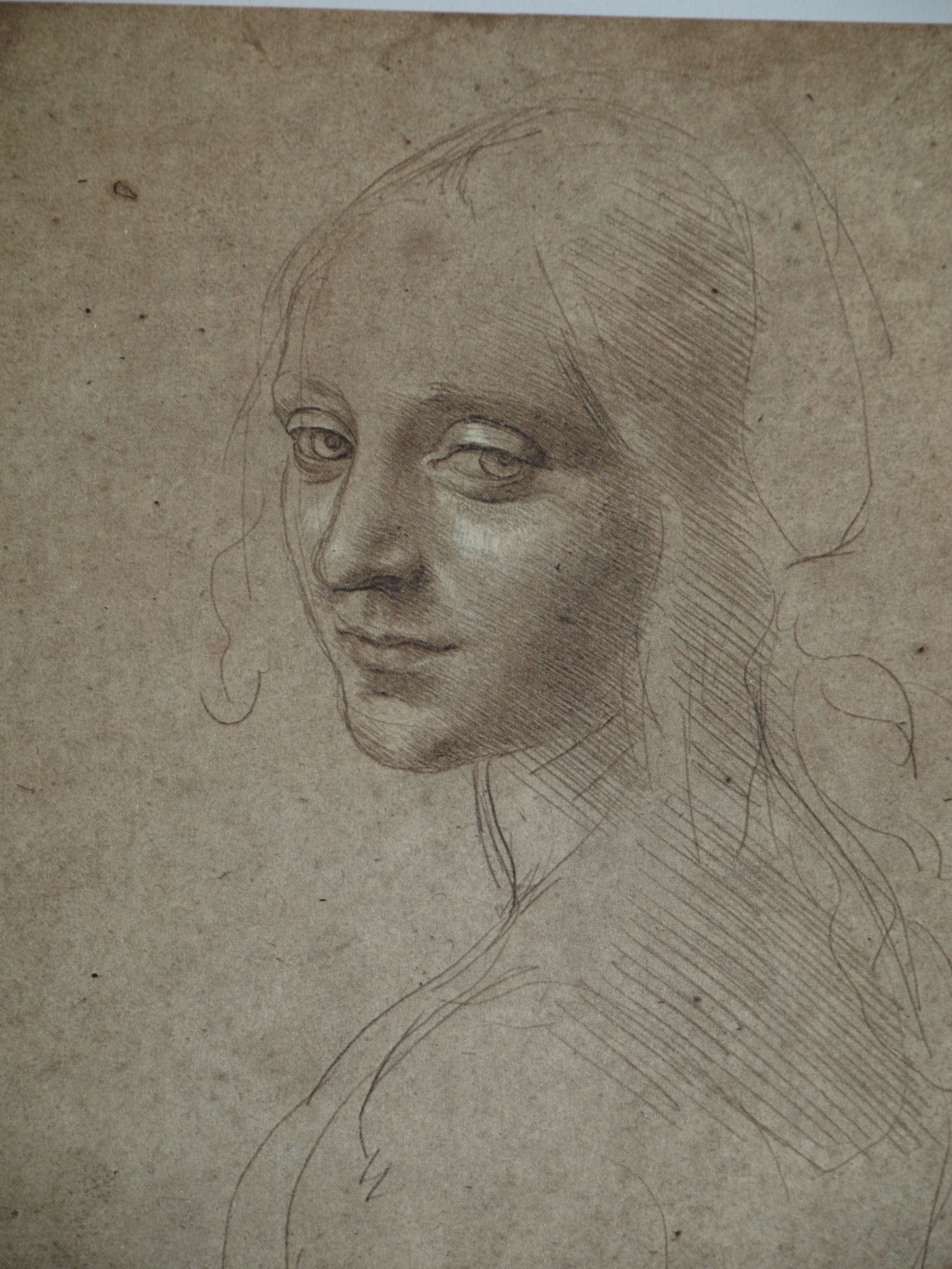 Da Vinci, Boceto retrato femenino   Trazos y texturas   Pinterest ...