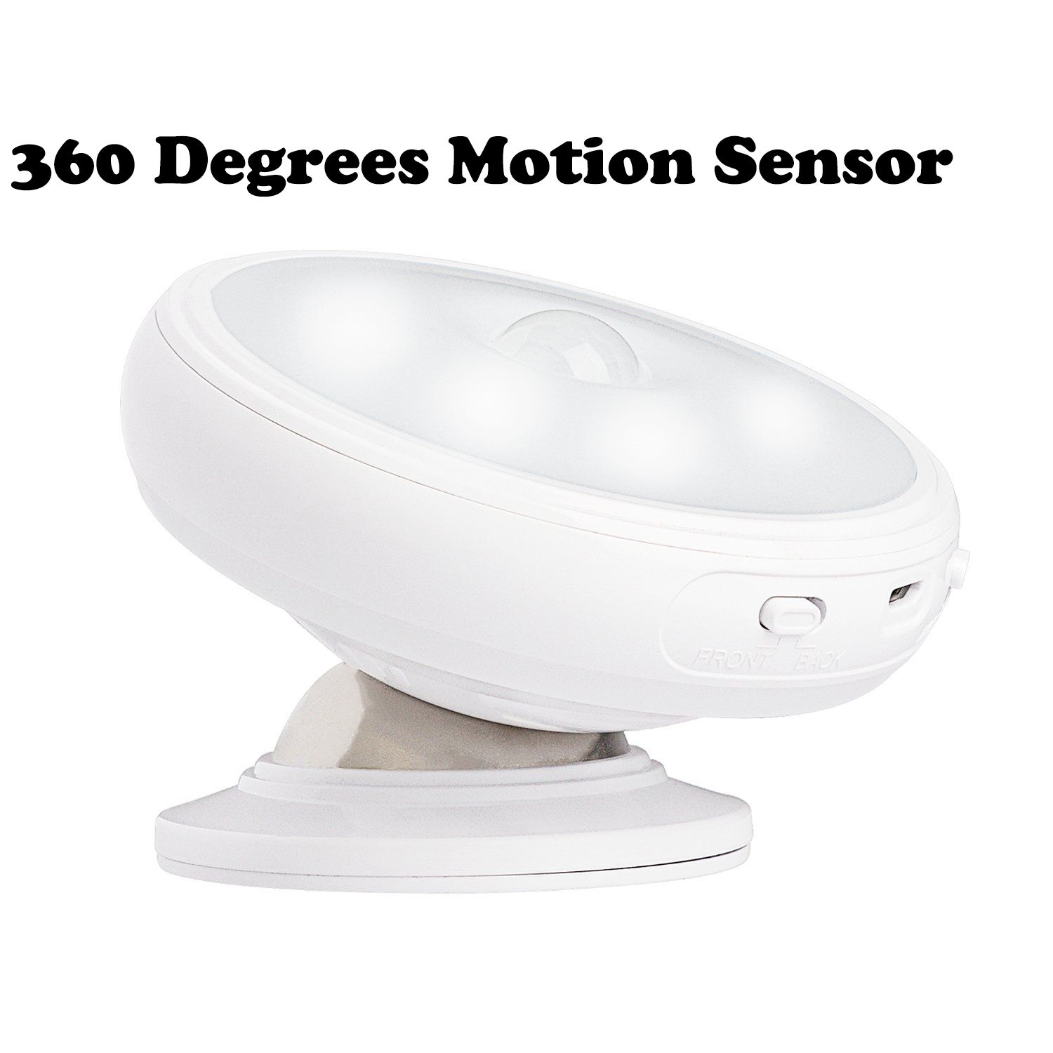 Rechargeable motion sensor night light activated led light with