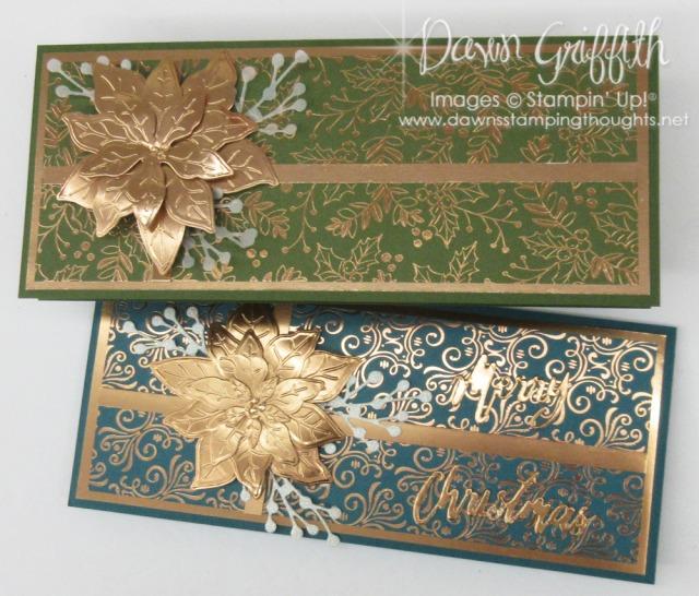 Poinsettia Petals Bundle ~Slimline card video