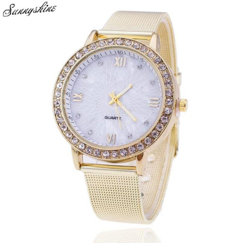 >> Click to Buy << Women Fashion  Diamond Analog Watches Stainless Steel Quartz Waterproof Clock Ladies Wrist Watch Watches wholesale #Affiliate