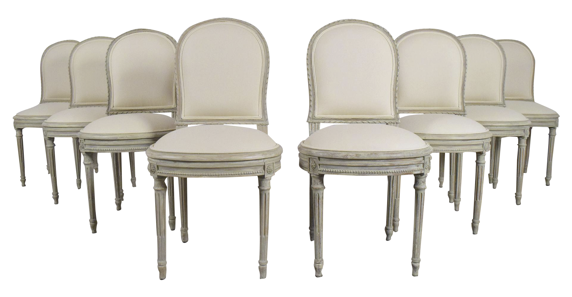 French Louis XVI Style Dining Chairs   Set Of 8 On Chairish.com