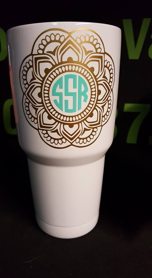 Monogrammed Stainless Tumbler All I Want For Christmas - How to make vinyl decals for cups