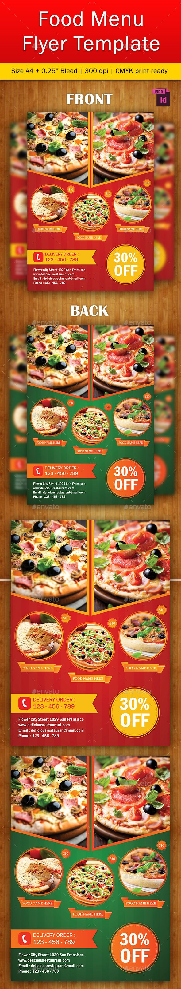 Food Flyer Template Vol   Flyer Template Flyer Printing And
