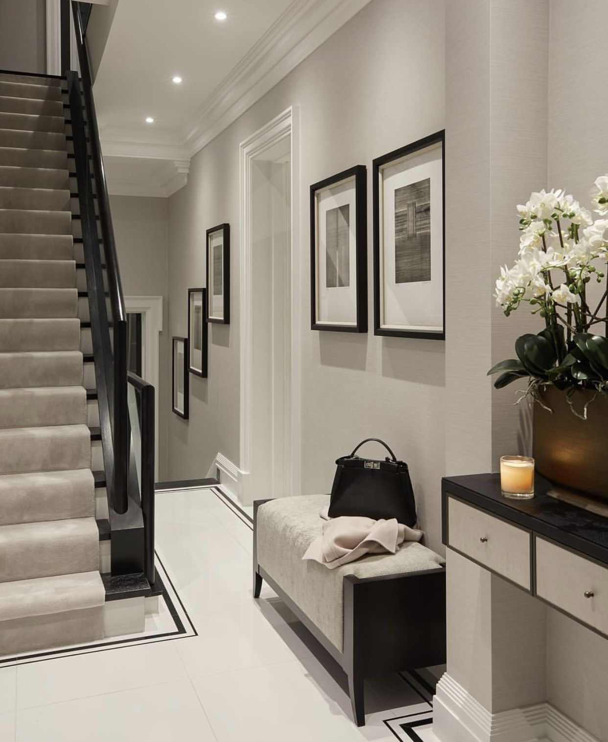 Hallway Ideas Grey Walls Grey Carpet Hallway Designs Hall