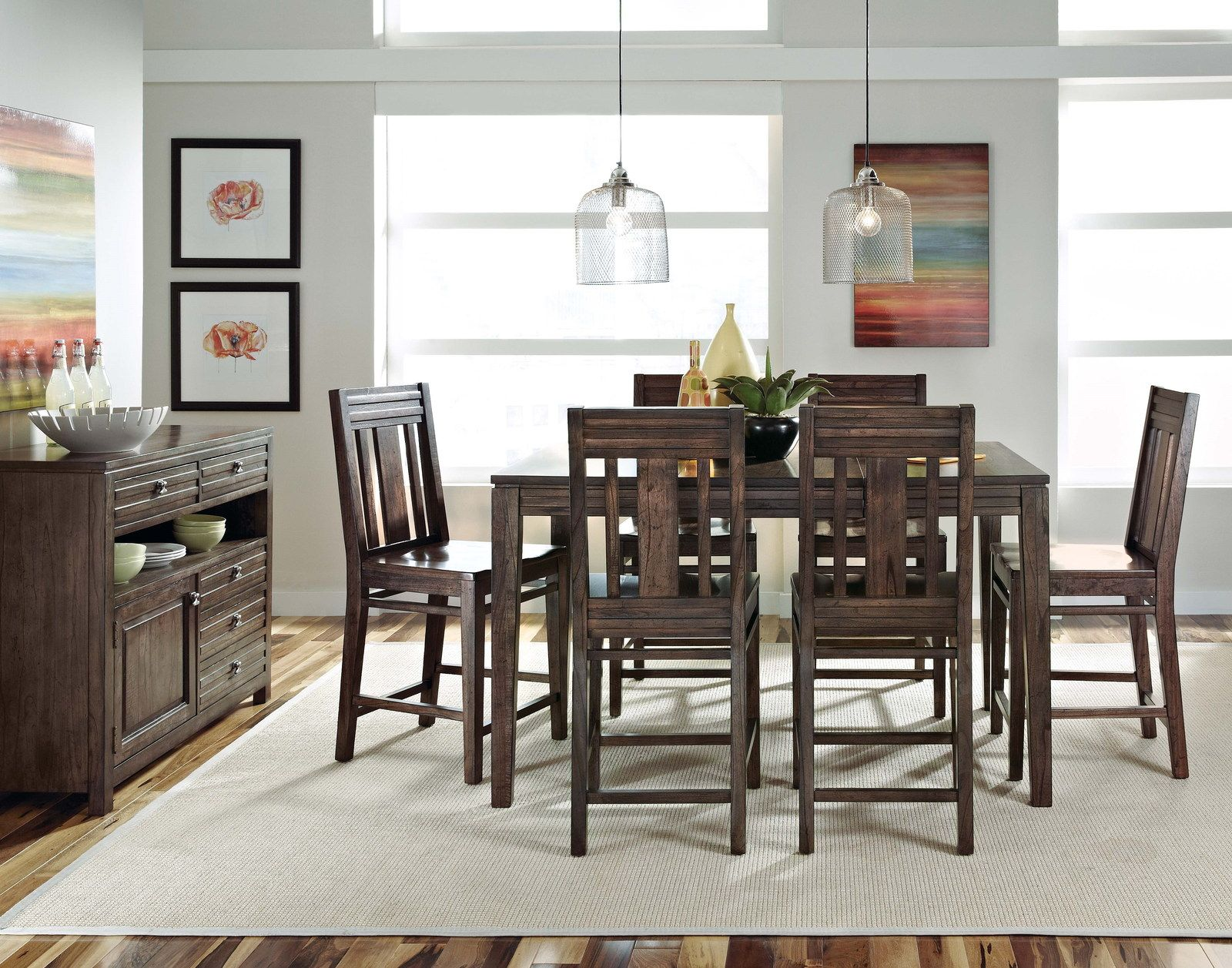 Kincaid Montreat Tall Dining Table Set In Graphite With Images