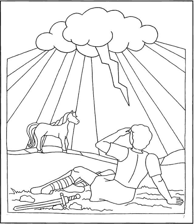 saul conversion story coloring pages - photo#11