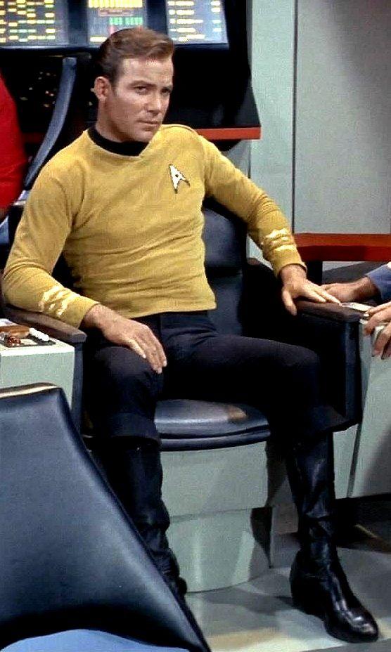 Captain Kirk in his bridge chair. #StarTrek #CaptainKirk # ...
