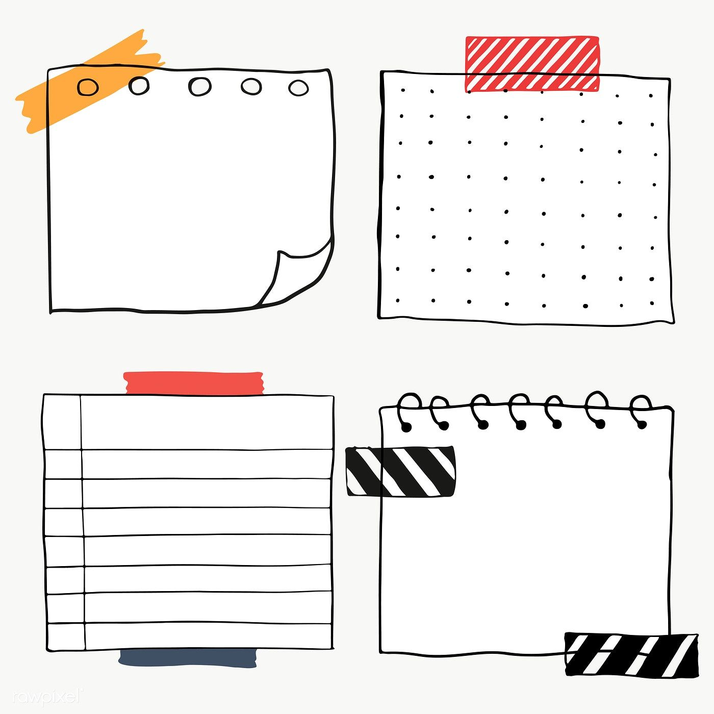 Download Premium Png Of Set Of Blank Paper Notes Transparent Png 2100863 In 2020 Note Paper Bullet Journal Ideas Pages Bullet Journal Stickers